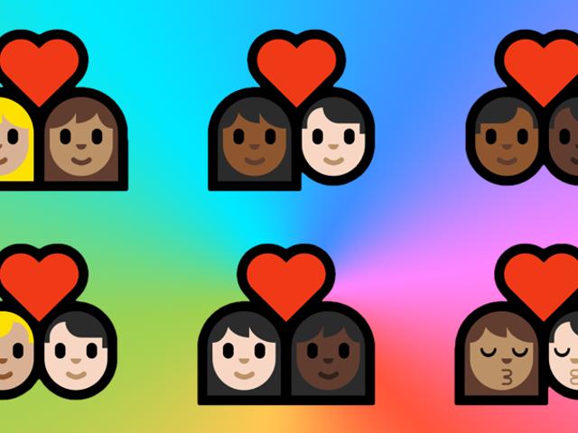 , Windows, alacade, interraciales, los emojis: ahora hay, 144, parejas