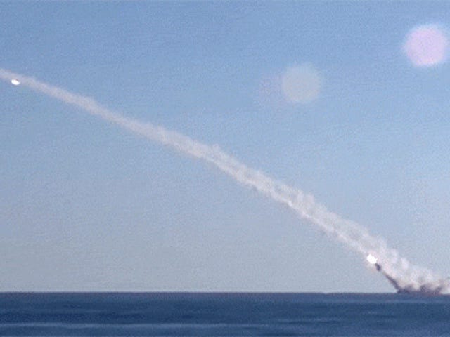 Watch a Russian submarine launch supersonic cruise missiles in the air