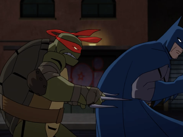 Det finns mycket som händer i denna Batman vs. Teenage Mutant Ninja Turtles Trailer