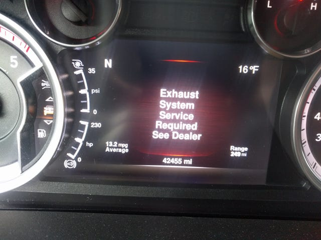 My truck is telling me that it's time to lose some parts...