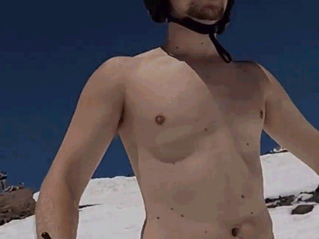Hvorfor kan jeg ikke slutte å se denne bryststabiliserte Topless Ski Footage?