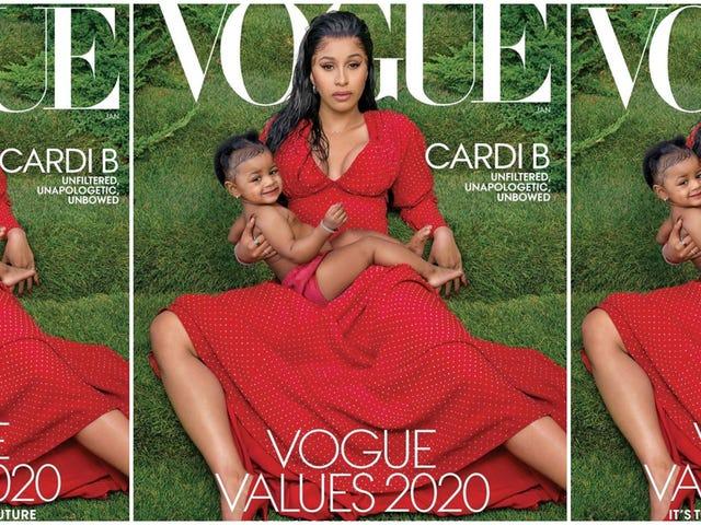 1ère couverture de Kulture: Cardi B et Child Grace Vogue's Not-So Regular, Degular, Schmegular Cover