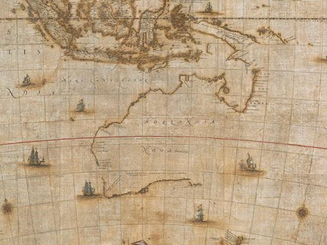 350-Year-Old Map of Australia Restored to Its Former Glory