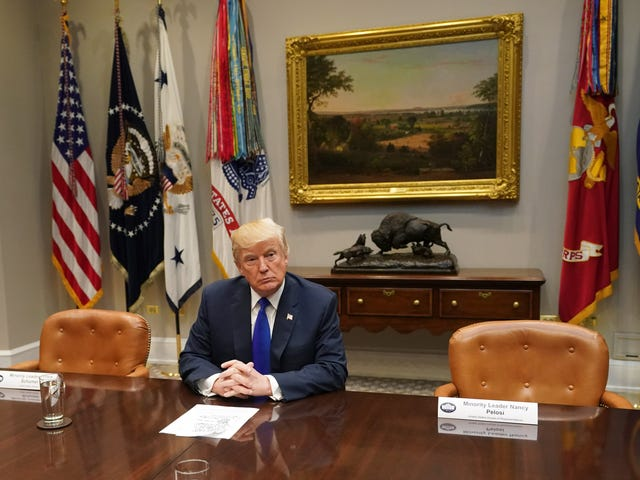Trump Hosted an Empty-Chair Meeting After 'Chuck and Nancy' Told Him to Kick Rocks