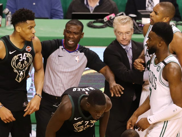 """""""Bullshit"""" Blown Call At The End Of Game 5 Has The Bucks Frustrated"""