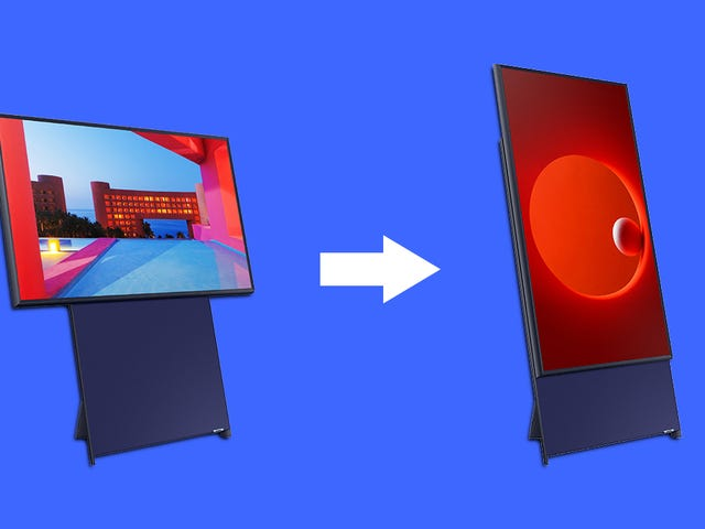 You Animals Love Vertical Video So Much Samsung Made a TV That Turns Sideways