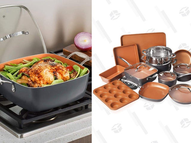 Restock Your Kitchen With a 20-Piece Gotham Steel Cookware Set For $140