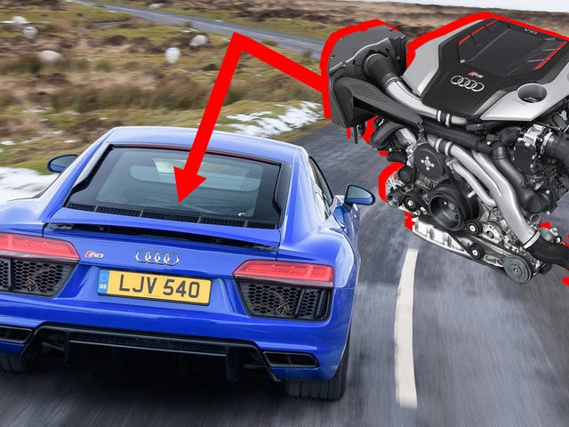 Un'Audi R8 Twin-Turbo V6 sarebbe effettivamente in regola e sembra che arrivi presto