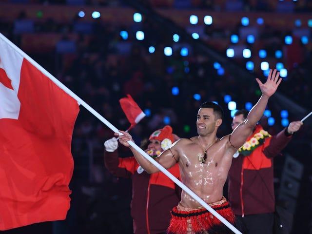 Los Juegos Olímpicos pueden posponerse, pero el tongano en topless es para siempre