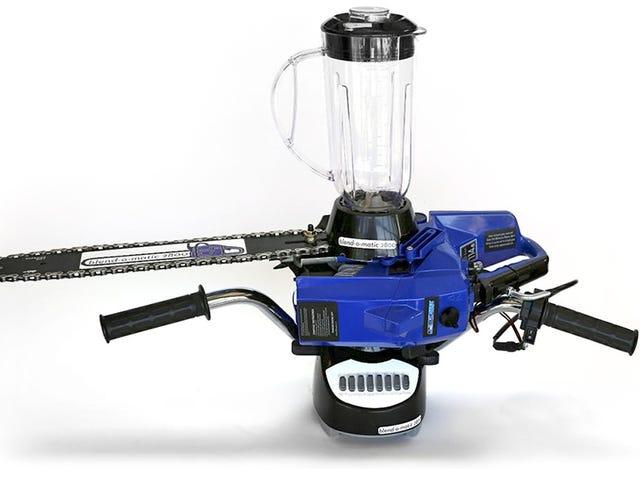 La combinaison d'un mélangeur, d'une scie à chaîne et d'une moto fait l'été