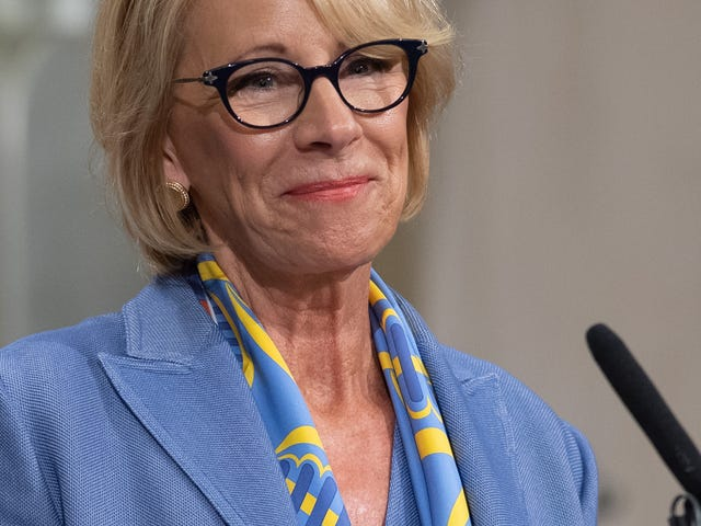 Betsy DeVos Would Very Much Like Someone to Do Her Job For Her