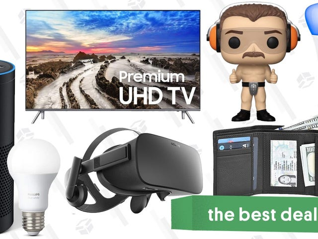 "Sunday's Best Deals: 82"" Samsung TV, Funkos Under $5, Philips Hue Bulbs, and More"