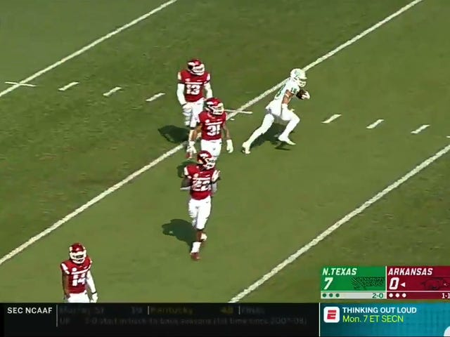 North Texas Genius Dupes Arkansas With Perfect Fake-Fair-Catch Punt Return