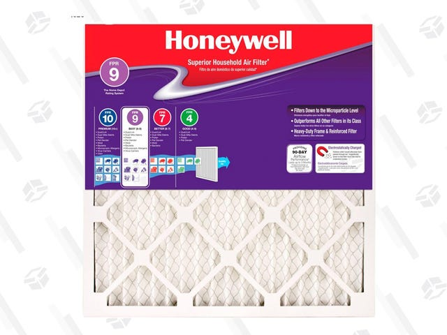 You Need Air Filters Anyway, Get Up 40% Off Select Honeywell Filters at Home Depot