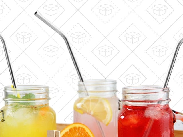Grab a Dozen Environmentally Friendly Metal Drinking Straws For $8