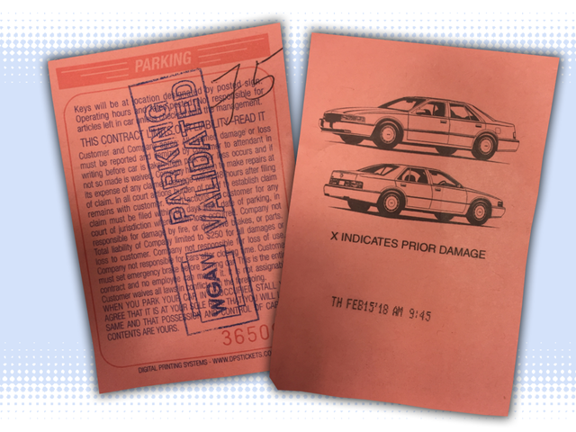 Let's Identify The Car Drawings On Valet Tickets