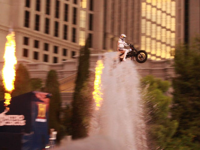 Travis Pastrana Lands Three Incredible Jumps To Break Evel Knievel's Record