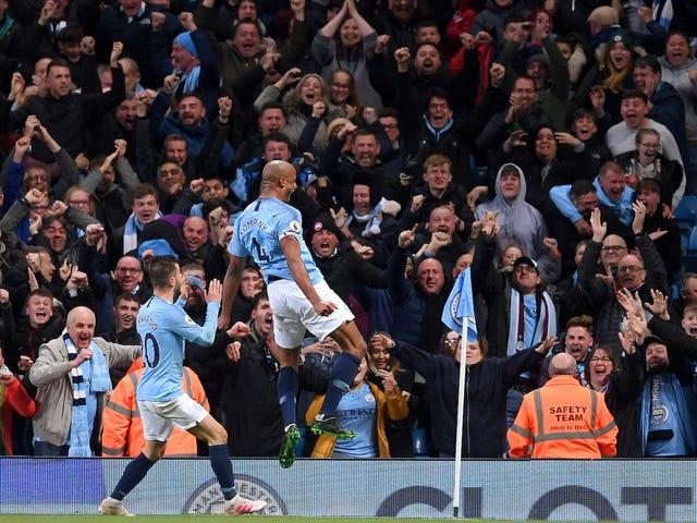 Gol de Pile-Driver de Vincent Kompany mantém vivo o título do Manchester City