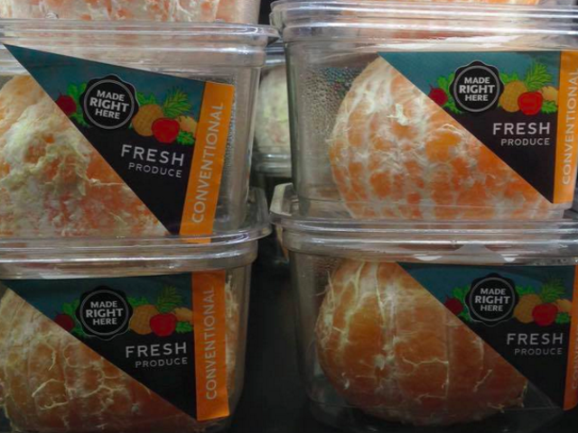 Ολόκληρα τα τρόφιμα ζητούσαν συγγνώμη για να καταστήσουν τα πορτοκάλια πιο βολικά
