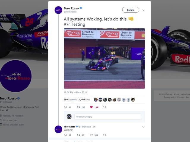 Bien joué Toro Rosso-Honda, bien joué.