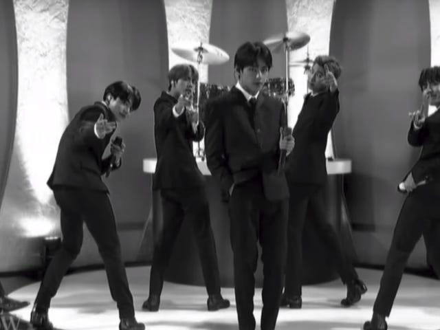 BTS channels The Beatles in a charismatic performance on The Late Show With Stephen Colbert