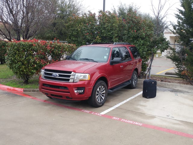 Everything's bigger in Texas, even the rental cars