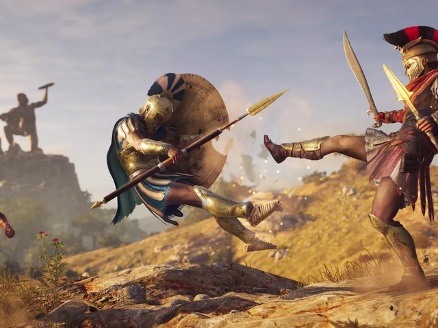 I Can't Stop Kicking People To Death In Assassin's Creed Odyssey