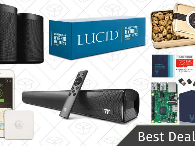 Sunday's Best Deals: Foam Mattresses, Raspberry Pi, Chocolate Chip Cookies, and More