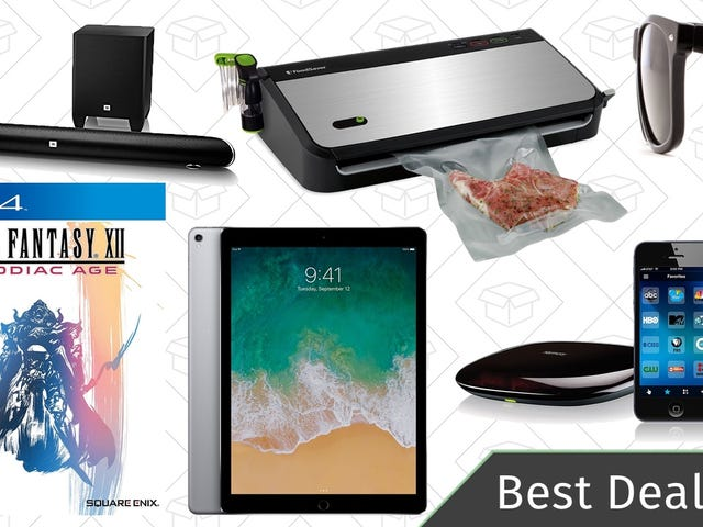 Sunday's Best Deals: $50 FoodSaver, Final Fantasy, iPad Pro, and More