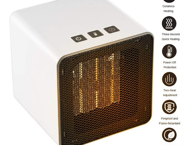 40% off FW ZONE Space Heater Electric Portable Ceramic Desk Heater Sale $15.59