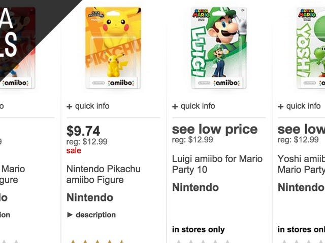 Target's Taking 25% off Amiibo Today. Get Them While They Last.