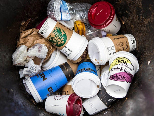Starbucks tests new compostable coffee cup