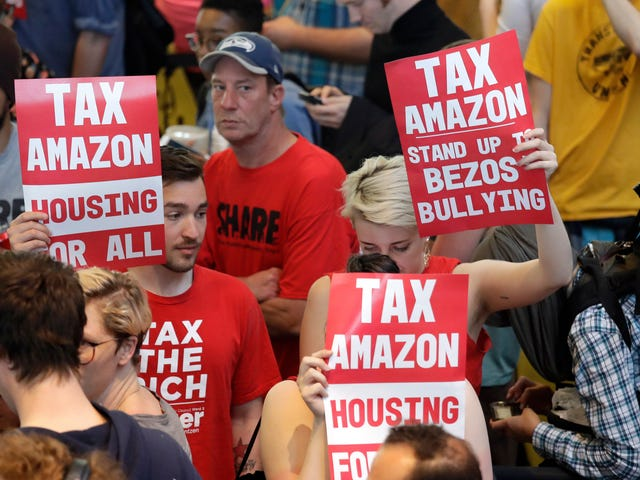 Amazon Extremely Mad That Seattle Wants It to Pay Taxes to Help Fund Affordable Housing