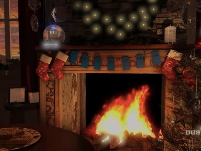 Cozy Up to Your Screen With ThisDoctor WhoChristmas Fireplace