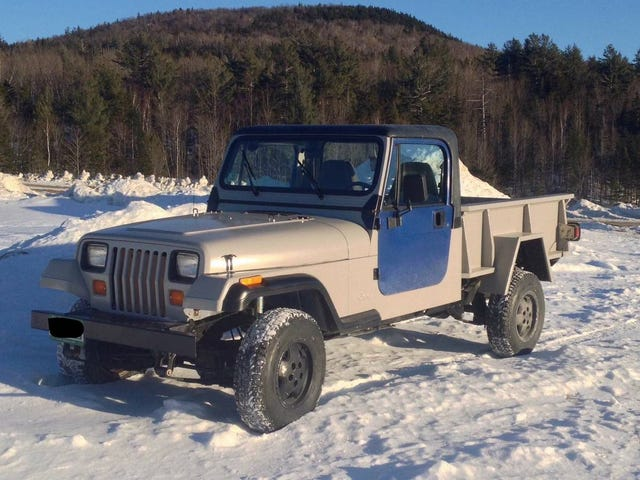At $9,000, Could This 1994 Jeep Wrangler Diesel Pickup Have You Saying 'Take My Money?'