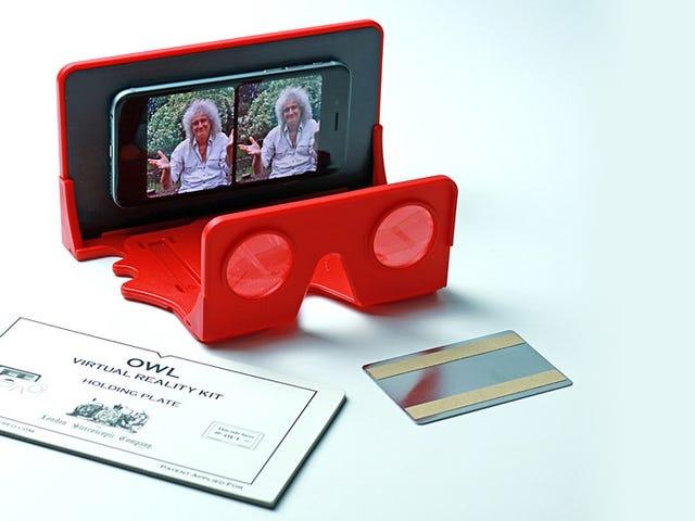 여왕의 기타리스트는 자신의 플라스틱 스마트 폰 VR 시스템을 사용하길 원합니다.