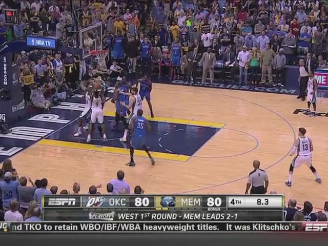 Reggie Jackson Attempts Desperation Shot With Four Full Seconds Left