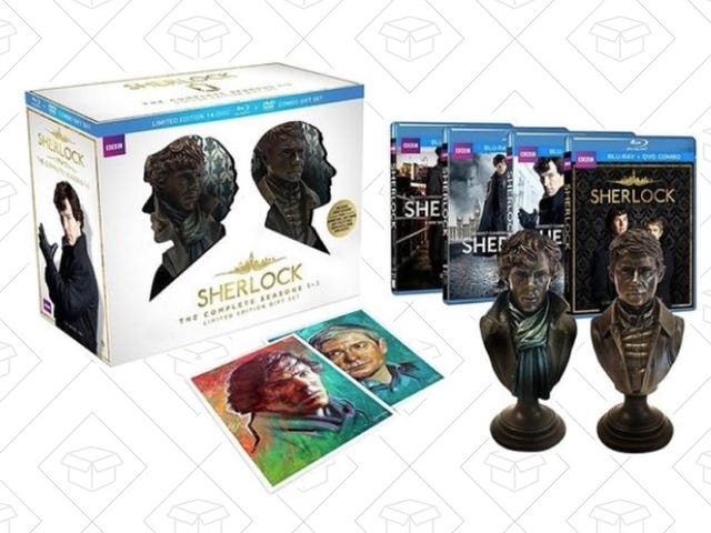 Re-solve All Your Favorite Mysteries with Sherlock Gift Set for $55