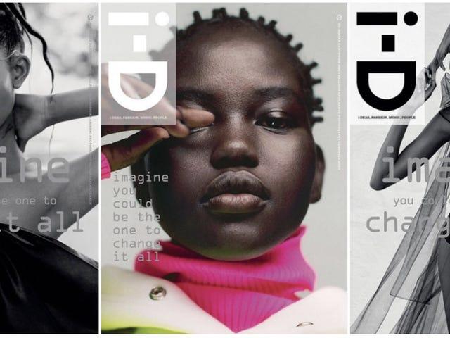 iD Magazine推出秋季三款地球和黑色女孩魔法封面
