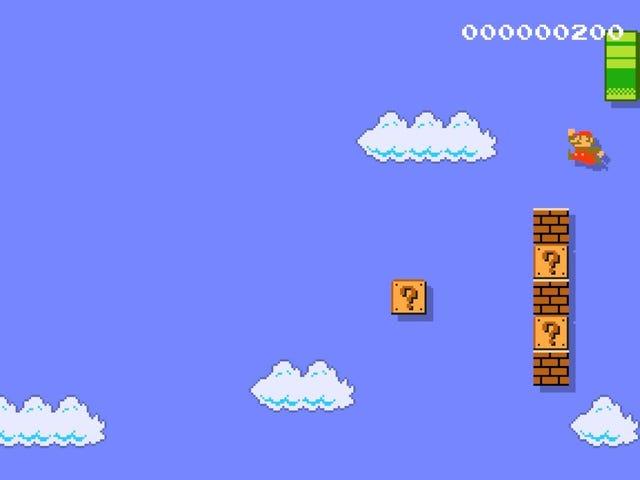 Marios ikonisches 1-1 Level ist viel schwieriger, wenn es vertikal ist