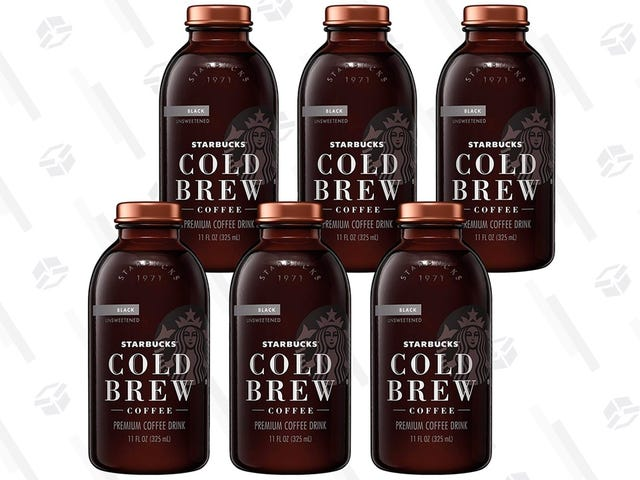 Perk Up With Six Bottles of Starbucks Cold Brew for $2 Each