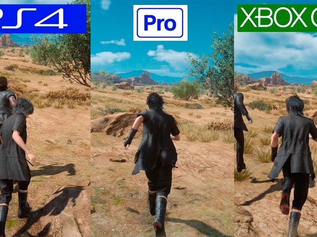 Final Fantasy XV Judgement Disc Vergleich PS4 Pro / PS4 / Xbox One