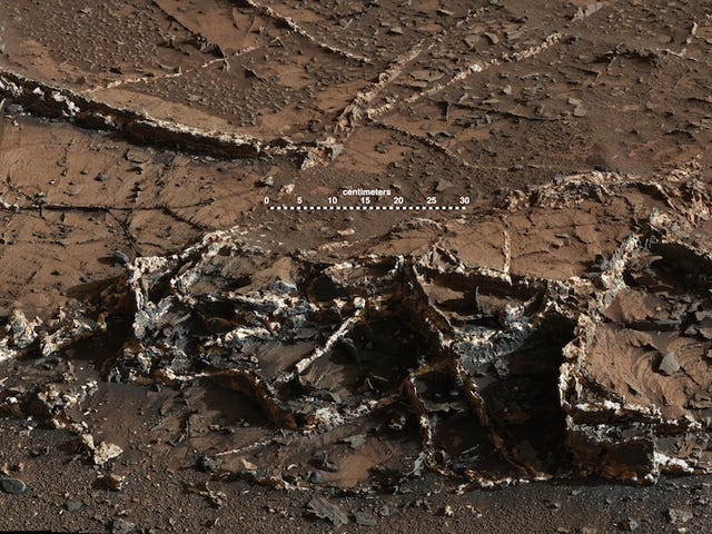 What's In These Mineral Veins On Mars?