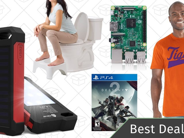 Saturday's Best Deals: Sports Apparel, Raspberry Pi, Squatty Potty, and More