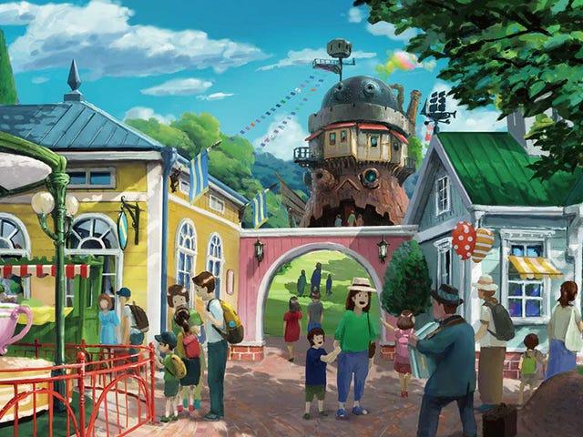 Los primeros bocetos del parque temático de Studio Ghibli parecen sacados de un cuento de hadas