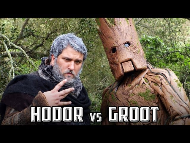 This Epic Rap Battle Between Hodor And Groot Is Gloriously Silly