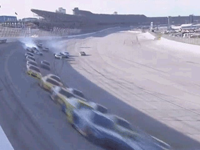 Back Of Talladega NASCAR Field Wrecks In Least Surprising Crash Ever