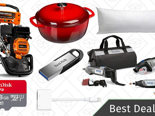 Tuesday's Best Deals: SanDisk Sale, Dutch Oven, Dremel Combo Kit, and More