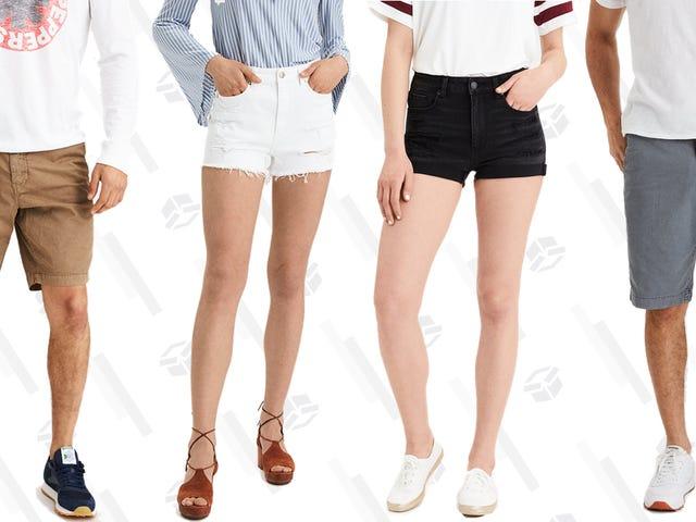 Använd aldrig riktiga byxor i sommar med köp en, få en 50% rabatt på American Eagle Shorts