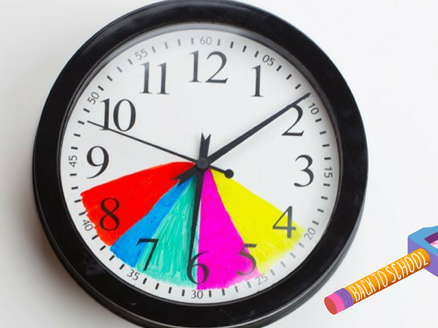 Make After-School Routines Easier by Color-Coding a Clock
